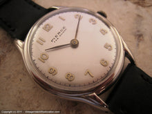 Load image into Gallery viewer, Pierce Silver Dial with Gold Numbers, Manual, Very Large 36mm