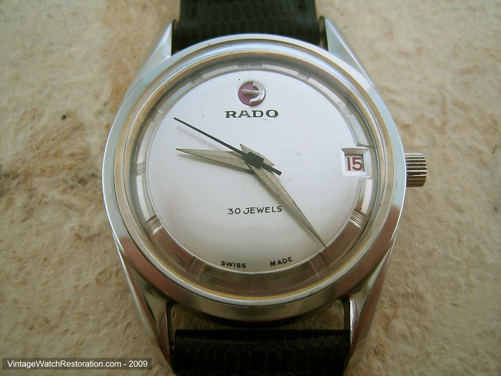 30 Jewel Rado in all its Elegant Simplicity, Automatic, Large 35mm