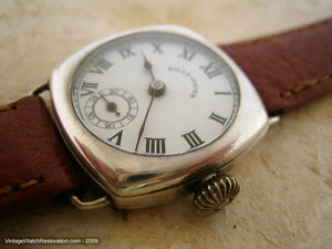 Early 30s Rolex Oyster Sterling Silver Beauty, Manual, 27x27mm