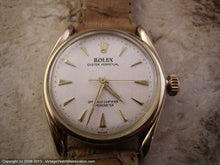 Load image into Gallery viewer, Rare Low Production Heavy 14K Gold Rolex Oyster Perpetual - Model 6090, Manual, 33mm