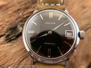 Racine (Gallet) Black Dial Beauty, Automatic, 34.5mm