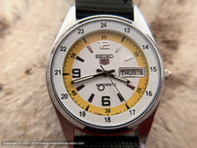 Load image into Gallery viewer, Seiko 5 Day-Date with White and Deep Yellow Dial, Automatic, Very Large 36.5mm