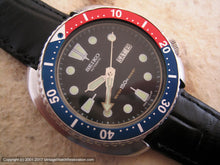 Load image into Gallery viewer, Huge Seiko 'Pepsico' Divers in Black Dial with Day-Date, Automatic, Huge 44mm
