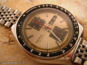 Huge and Hefty Seiko Speed Timer Chronograph, Automatic, Huge 43mm