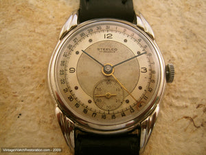 Fabulous all Original Art Deco Steelco with Date Dial, Manual, 32mm