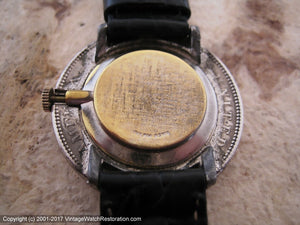 U.S. Morgan Dollar Coin Fabricated into a Watch, Manual, Huge 38mm
