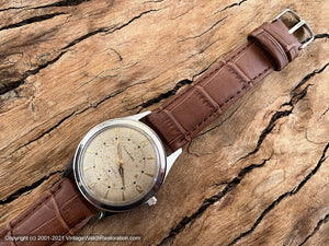 Sanford Textured Dial with Lovely Patina, A. Hirsch Movement, Manual, 33.5mm