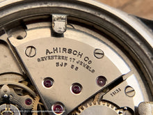 Load image into Gallery viewer, Sanford Textured Dial with Lovely Patina, A. Hirsch Movement, Manual, 33.5mm