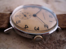 Load image into Gallery viewer, Wonderful Yellow-Orange Dial Tavannes WWII Era Military, Manual, 33mm