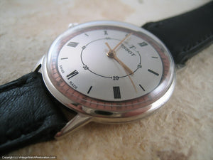 Thin Left-Handed Style Tissot Two-Toned Dynamo, Manual, 34mm