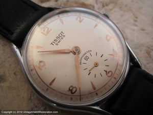 Tissot with Softly Elegant Dial - Gold applied Design on Pearl White Dial, Manual, 35mm