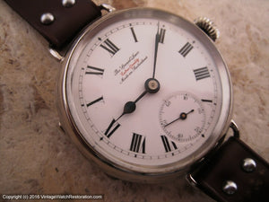 The Special Lever Porcelain Dial Roman, Manual, Massive 41mm