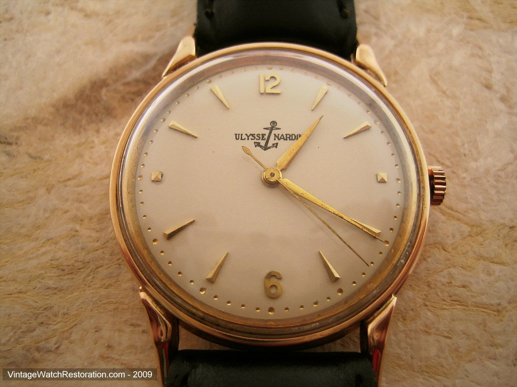 Buttery Cream 18K Gold Ulysse Nardin Splendor, Manual, Large 35mm