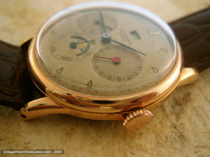 Early Original Universal Complicated Triple Date Moonphase, Manual, Large 35mm