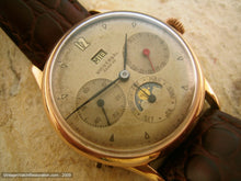 Load image into Gallery viewer, Early Original Universal Complicated Triple Date Moonphase, Manual, Large 35mm