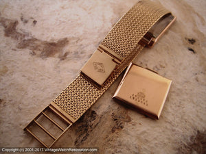 Stunning 18K Yellow Gold Universal with 18K Gold Mesh Bracelet , Manual, 26x33.5mm