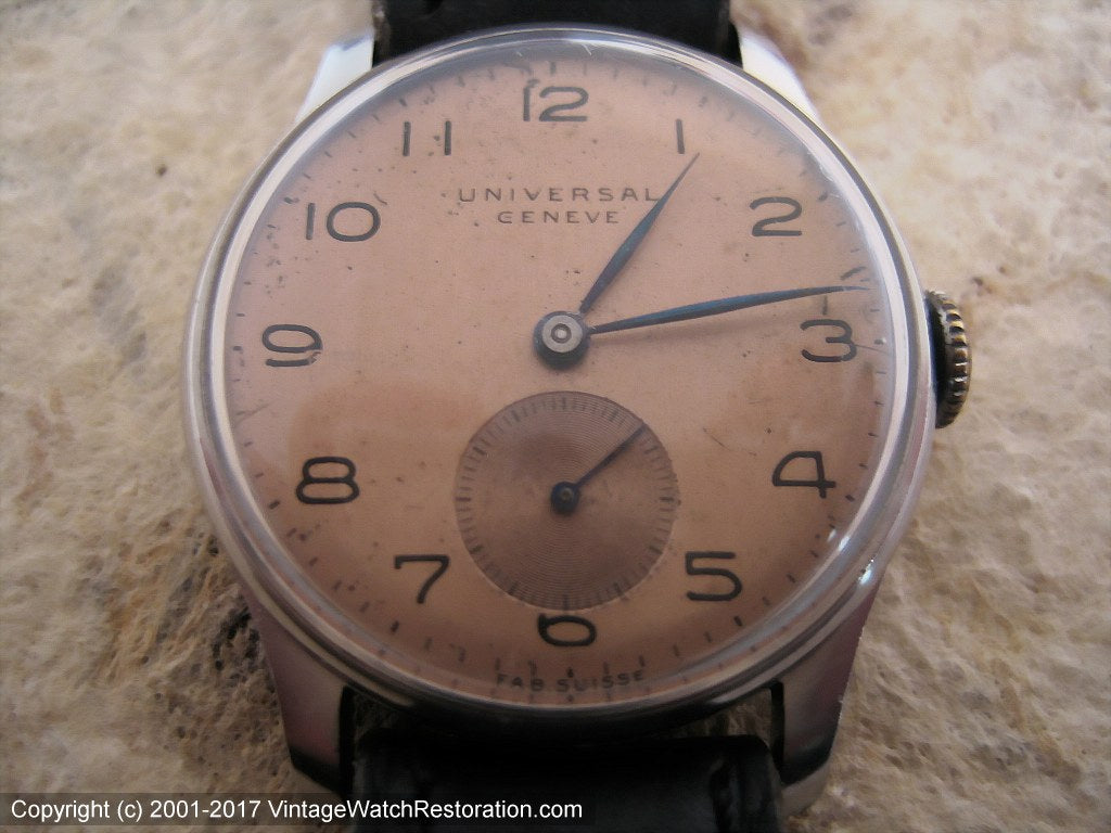 Universal Geneve WWII Era with Copper Dial, Manual, 30mm