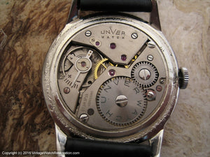 Unver Watch Original Dial with Rose Gold Markers, Manual, Huge 38mm