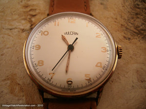 Vulcain with a Subtle Pearl White Dial and Gold Markers, Manual, 34mm