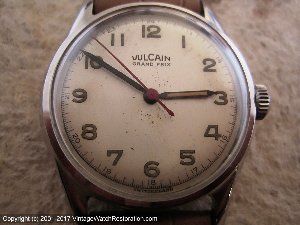 Vulcain Grand Prix WWII Era Bumper, Automatic, 33mm