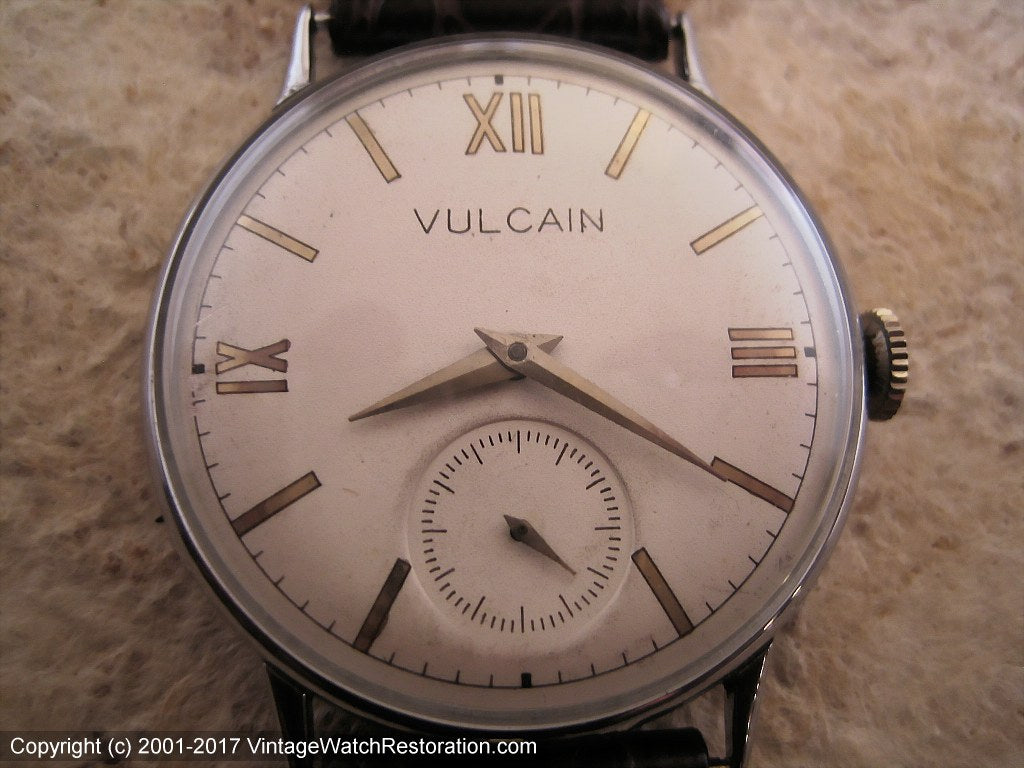 Vulcain with Gold Roman Dial on Ivory, Manual, Large 35mm
