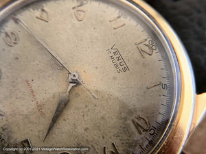 Venus 17 Rubis Patina Dial with Minute and Second Tick Markers, Manual, 38.5mm