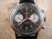 Load image into Gallery viewer, Wakmann Gem of Gem Black Dial Chronograph, Manual, Huge 37mm