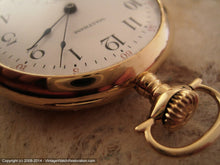 Load image into Gallery viewer, Early 14K Gold American Waltham Pocketwatch Model 1908, Manual, Large 48mm