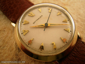 Most Unusual Aztec-Deco Honeycomb Dial Wittnauer, Manual, 33mm