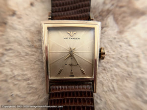 Wittnauer Minty in Rare Trapezoid Case  , Manual, 22x27.5mm