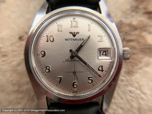 Wittnauer Minty Silver Dial with Date, Automatic, Large 34mm
