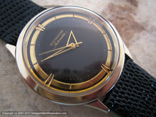 Load image into Gallery viewer, Stunner Wittnauer Deco Style Gold and Black Dial, Automatic, Large 34mm