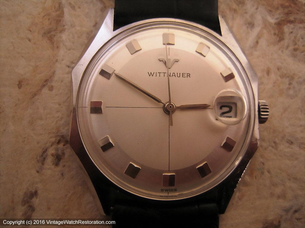 Wittnauer Two Tone Dial with Date, Manual, 33x37mm