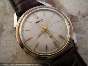 Wyler Incaflex Two-Toned Bezel with Superb Lumed Hands, Manual, 33mm