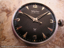 Load image into Gallery viewer, Wyler Incaflex Black Sunburst Dial, Manual, 32.5mm