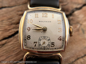 Waltham Square Tonneau with Horned Lugs, Manual, 27.5mm