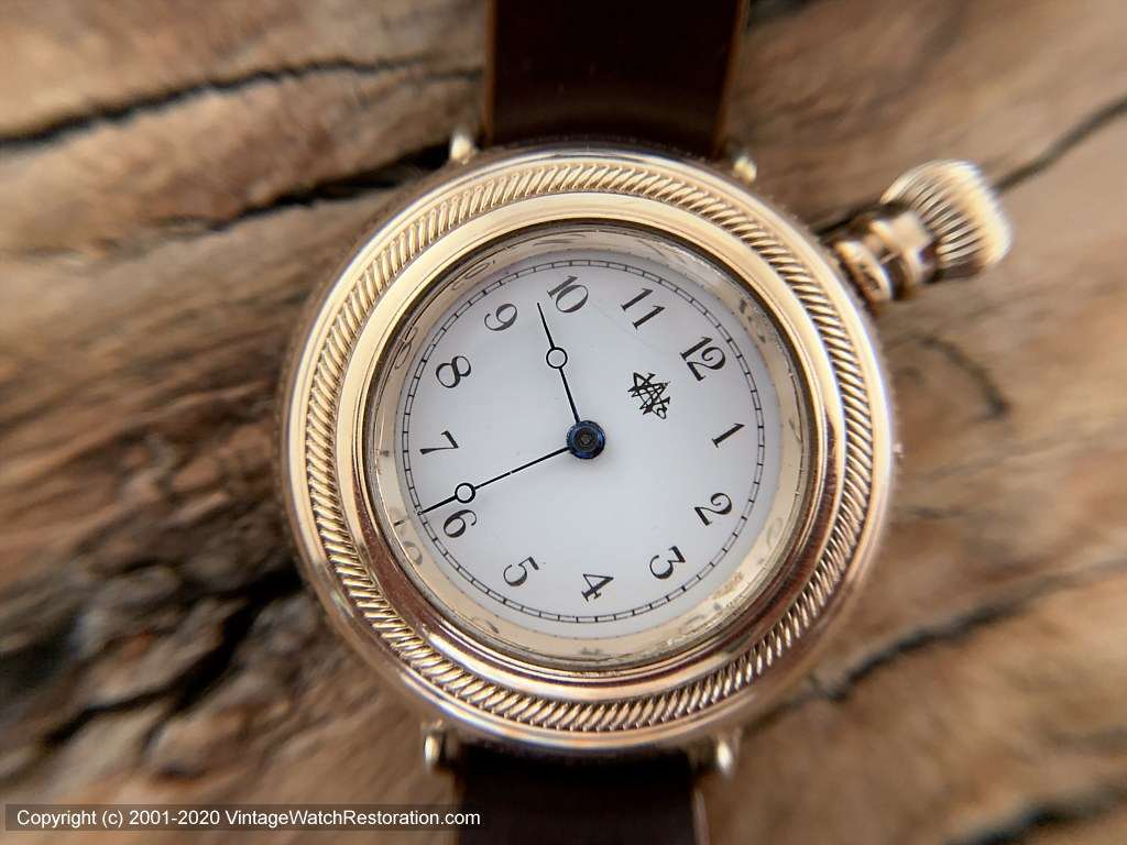 Waltham 1886 Pocket Watch Conversion, Angled Dial, Large Crown, Manual, 39mm