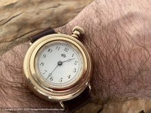 Load image into Gallery viewer, Waltham 1886 Pocket Watch Conversion, Angled Dial, Large Crown, Manual, 39mm