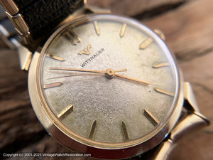 Wittnauer with Textured Silver Dial and Golden Markers, Manual, 33mm