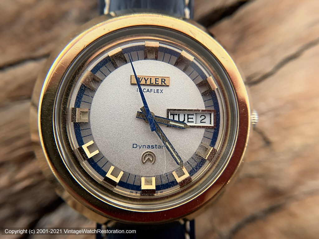 Wyler Incaflex Dynastar 'Lifeguard' Three-Tone Dial with Day/Date in Hefty Case, Automatic, 38.5mm