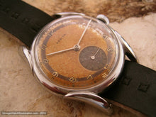 Load image into Gallery viewer, Rusty-Brown Two Tone Zenith with Deco Lugs, Manual, Large 34mm