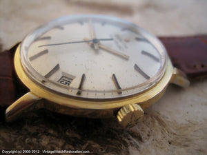 Zenith Gold Star with Date at 4:30, Automatic, Large 34mm