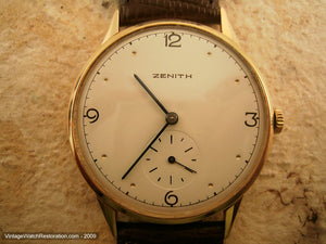 Massive Zenith 18K Gold on Buttery Cream Dial, Manual, Massive 38mm