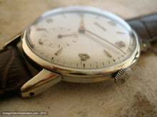 Load image into Gallery viewer, Zenith Pearl Dial with Gold Numbers, Manual, Very Large 36.5mm