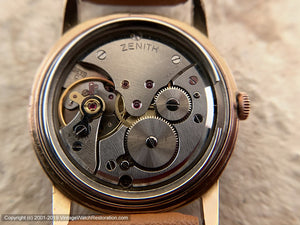 Zenith with Date at 4:30 in Rose-Gold Case, Manual, 34mm