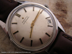 Zenith Pie-Pan Dial with Date at 4:30, Automatic, Large 35mm