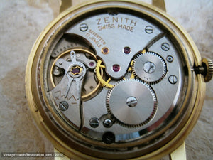 18K Gold Zenith with Date and Gold Star, Manual, Large 34mm