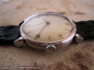 Zenith Soft Original Patina Dial with Roman Numbers, Manual, Large 35mm