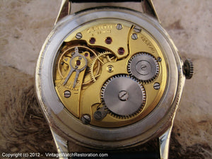 Impressively Sized and Stunning Zenith Two-Tone, Manual, Very Large 37mm