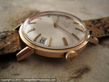 Load image into Gallery viewer, NOS Zenith 2522PC in Minty Rose Gold Filled Case with Pie Pan Dial, Automatic, Large 34mm